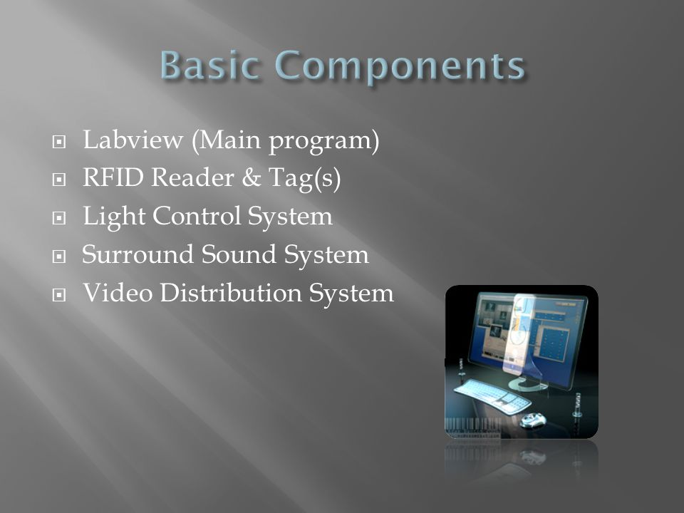 Basic Components Labview (Main program) RFID Reader & Tag(s)