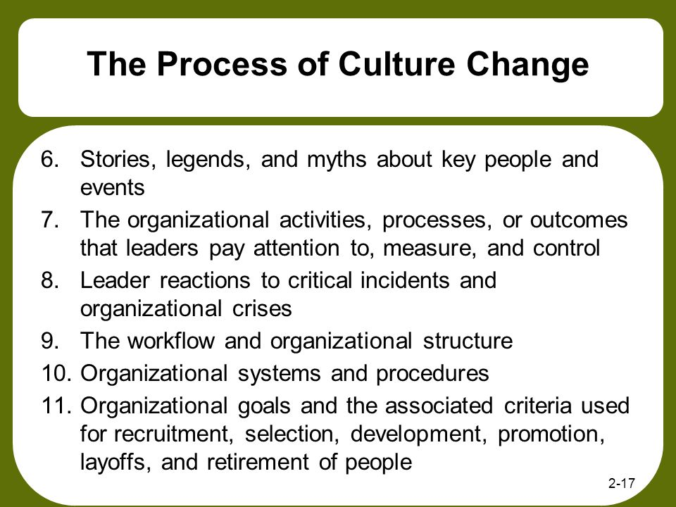 The Process of Culture Change