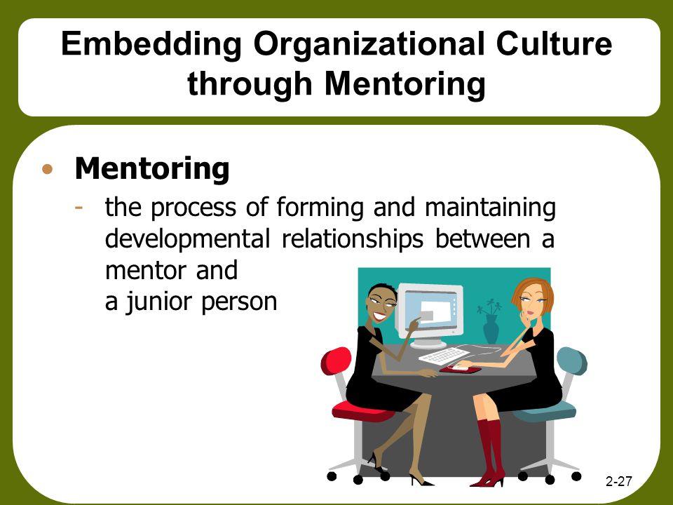 Embedding Organizational Culture through Mentoring