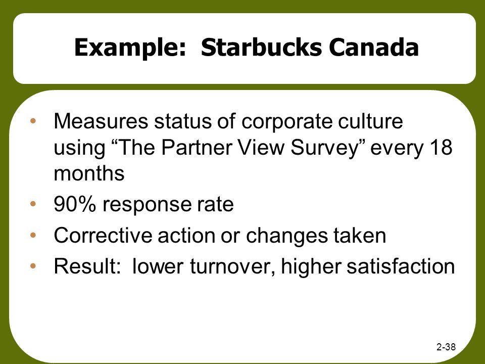 Example: Starbucks Canada
