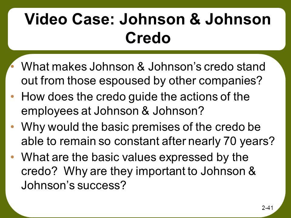 Video Case: Johnson & Johnson Credo
