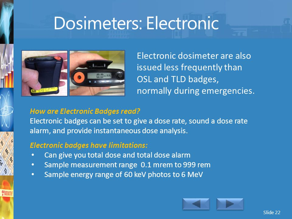 Dosimeters: Electronic