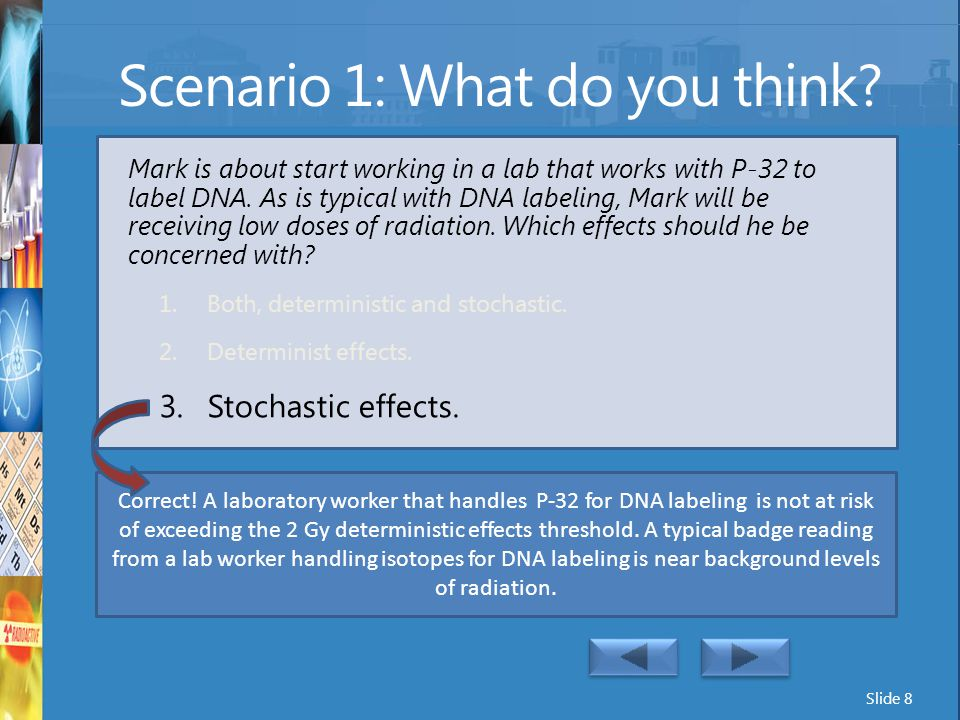 Scenario 1: What do you think