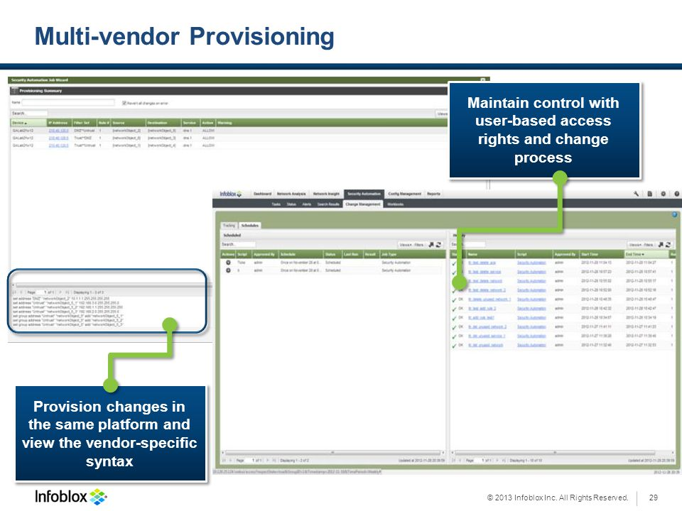 Multi-vendor Provisioning