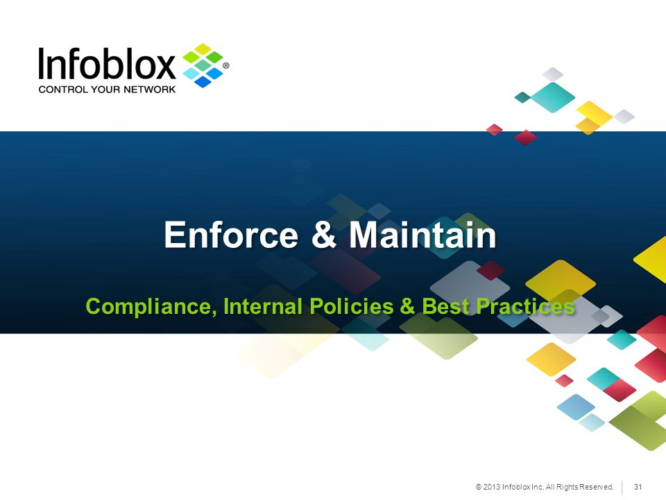 Compliance, Internal Policies & Best Practices