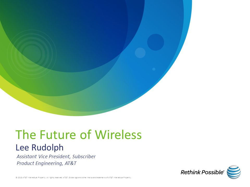 The Future of Wireless Lee Rudolph