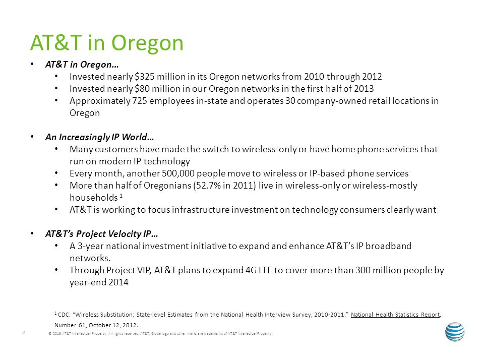 AT&T in Oregon AT&T in Oregon…