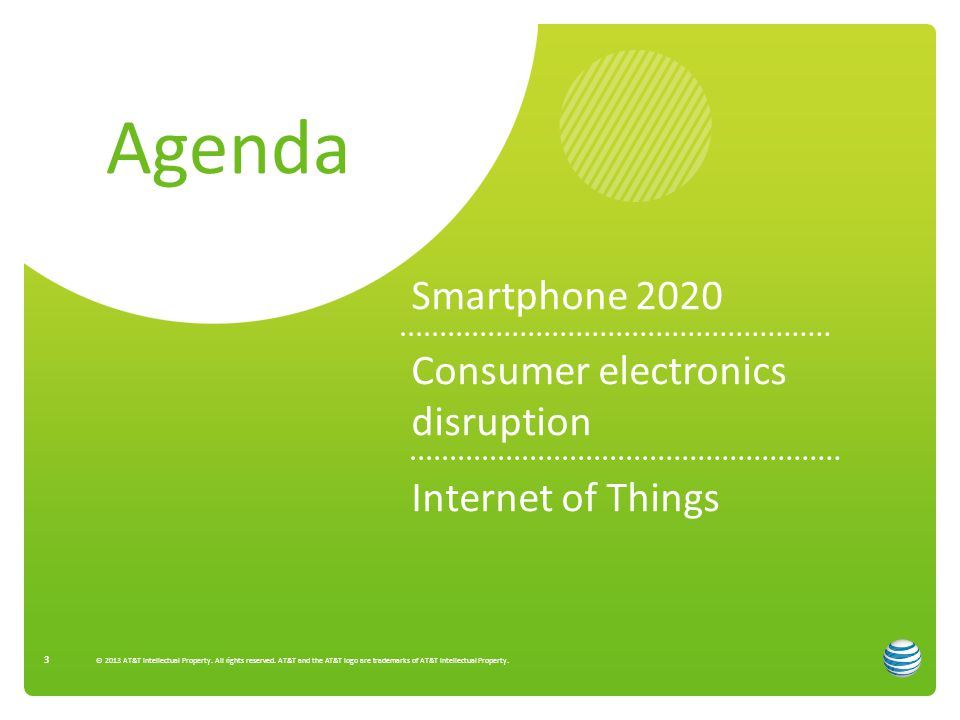 Agenda Smartphone 2020 Consumer electronics disruption