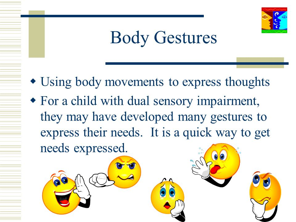 Body Gestures Using body movements to express thoughts