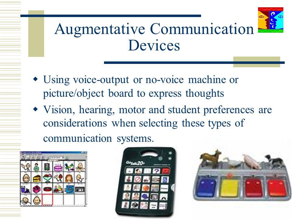Augmentative Communication Devices