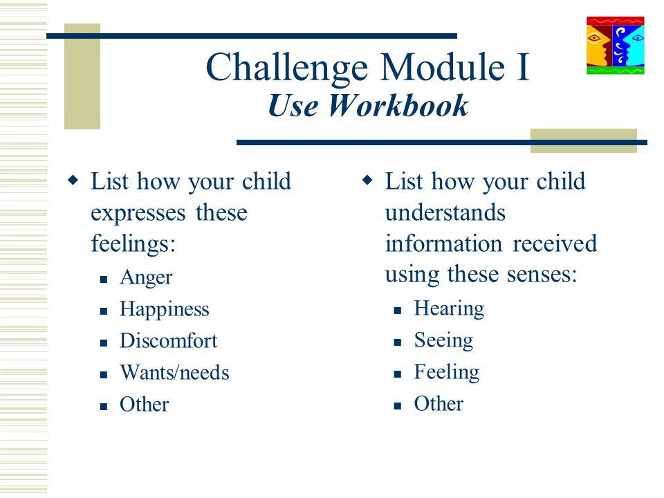 Challenge Module I Use Workbook