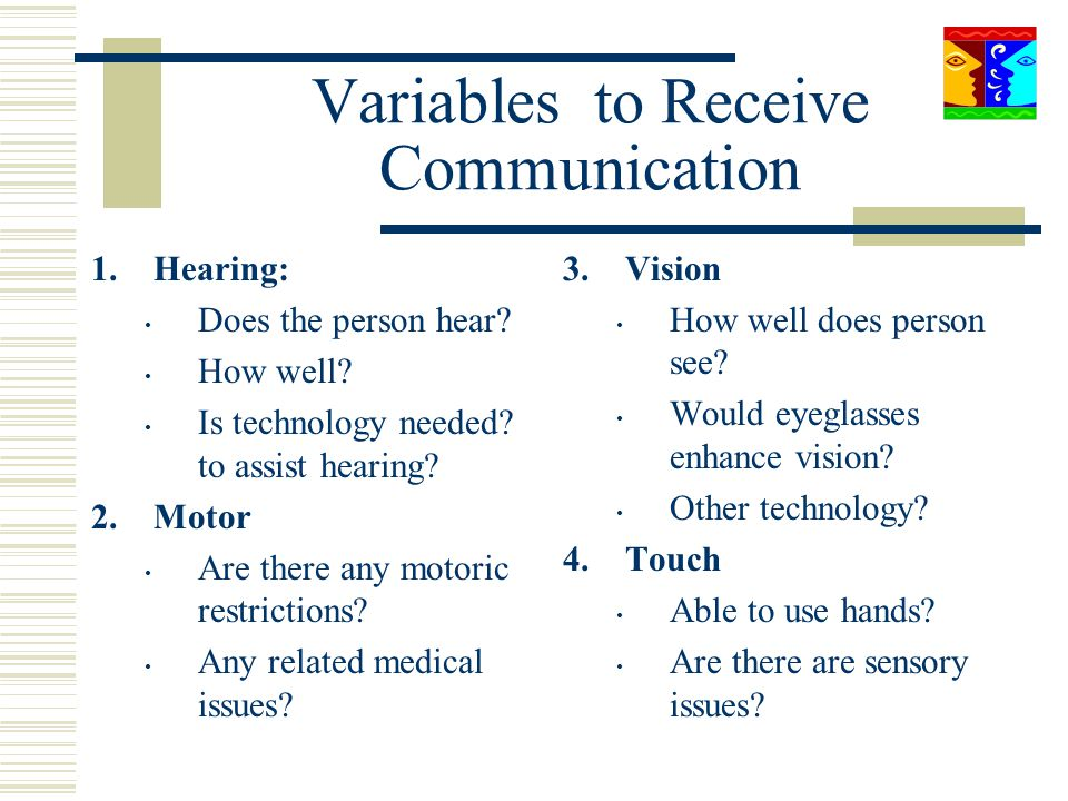 Variables to Receive Communication