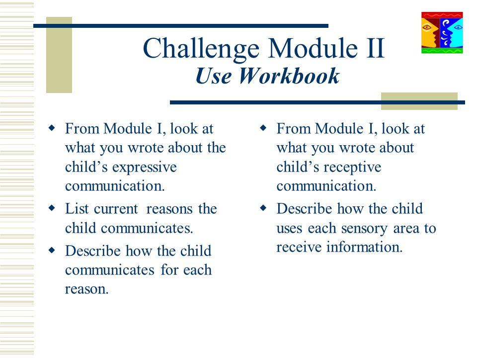 Challenge Module II Use Workbook