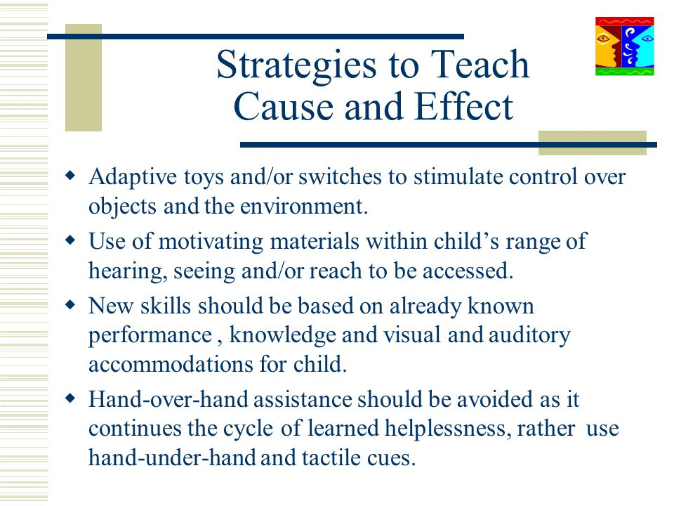 Strategies to Teach Cause and Effect