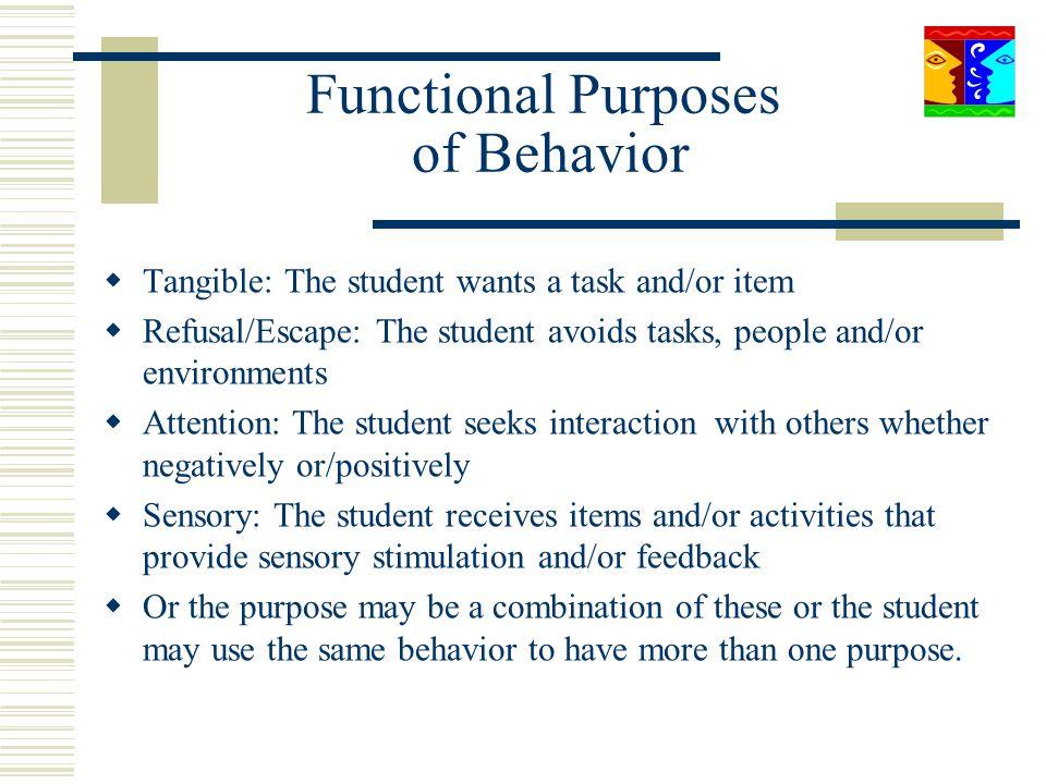 Functional Purposes of Behavior
