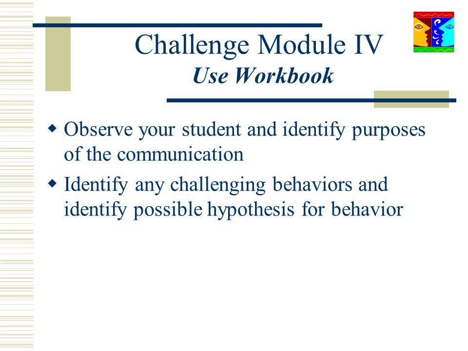 Challenge Module IV Use Workbook