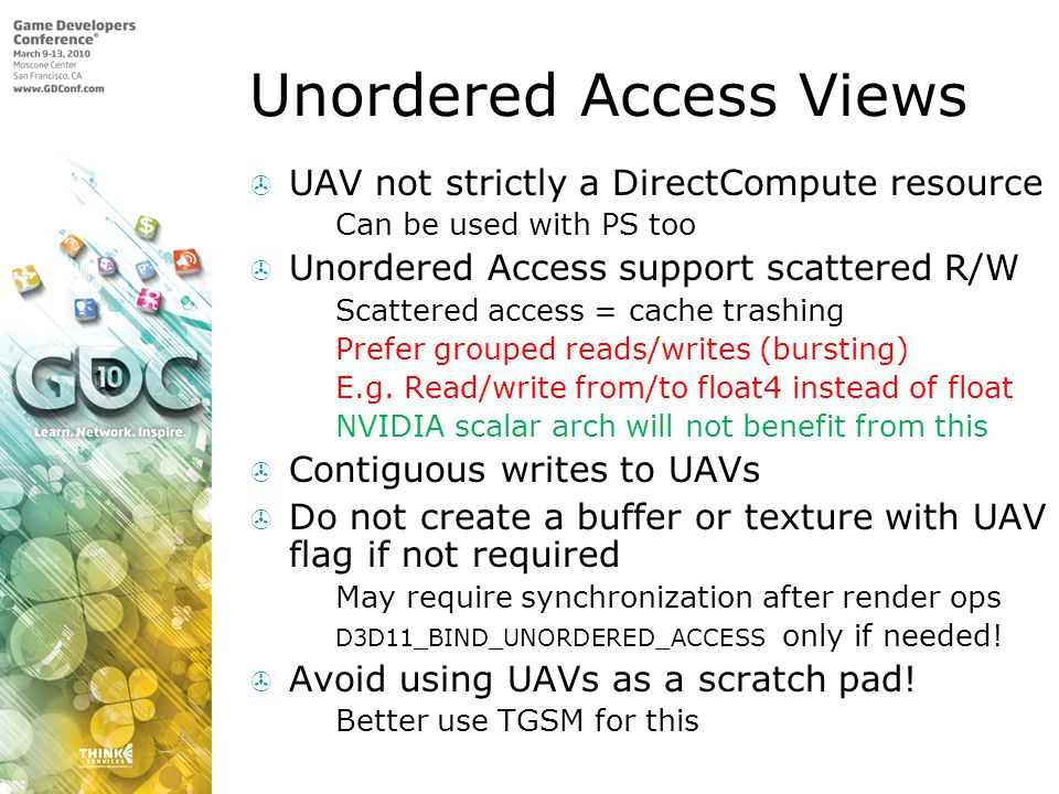 Unordered Access Views