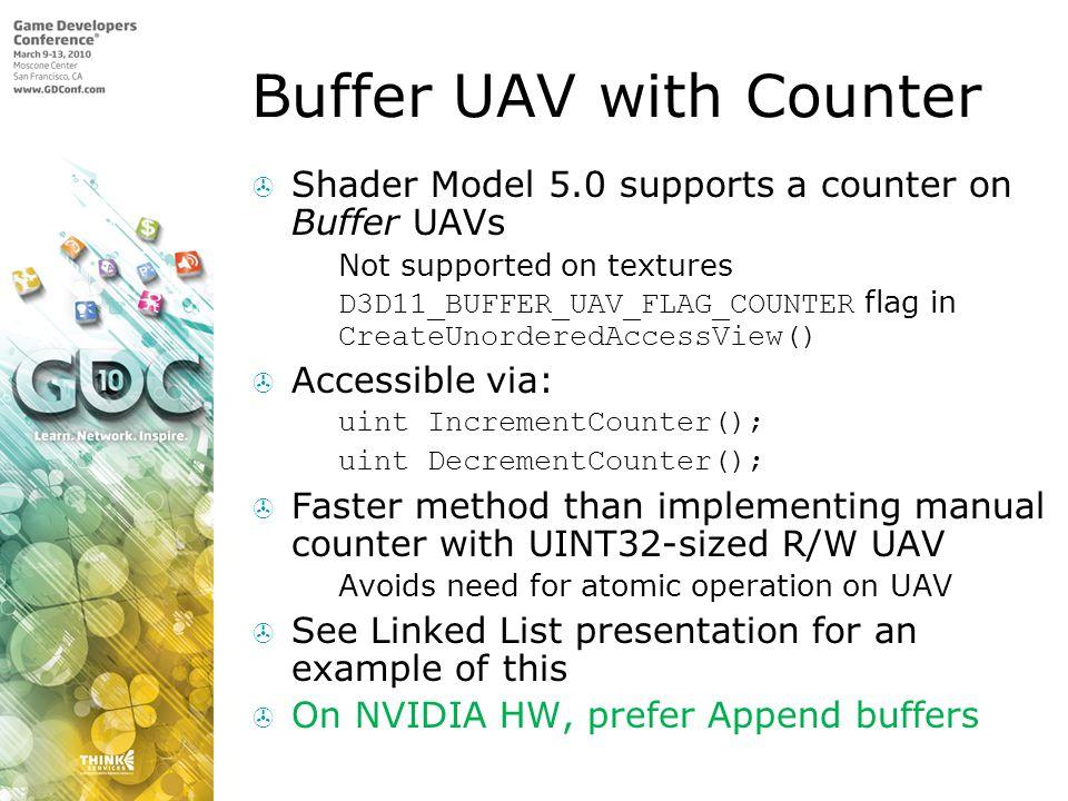 Buffer UAV with Counter
