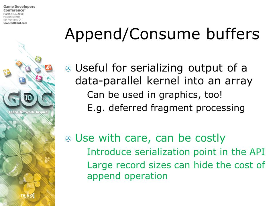 Append/Consume buffers