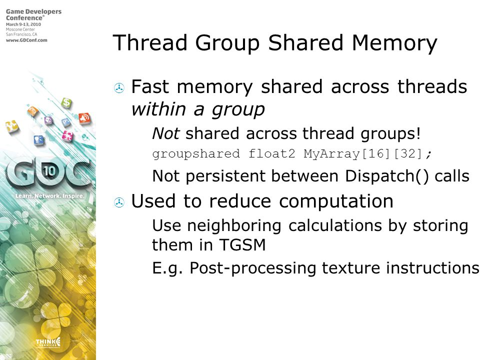 Thread Group Shared Memory