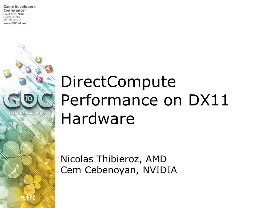 DirectCompute Performance on DX11 Hardware