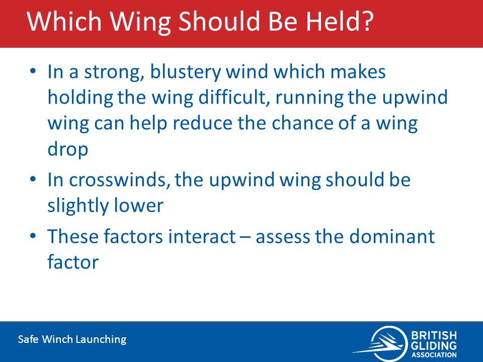 Which Wing Should Be Held