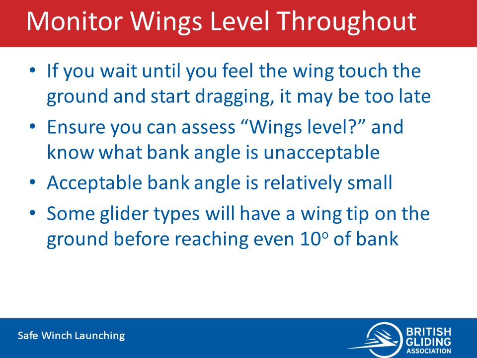 Monitor Wings Level Throughout