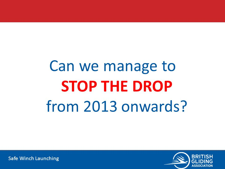 Can we manage to STOP THE DROP from 2013 onwards