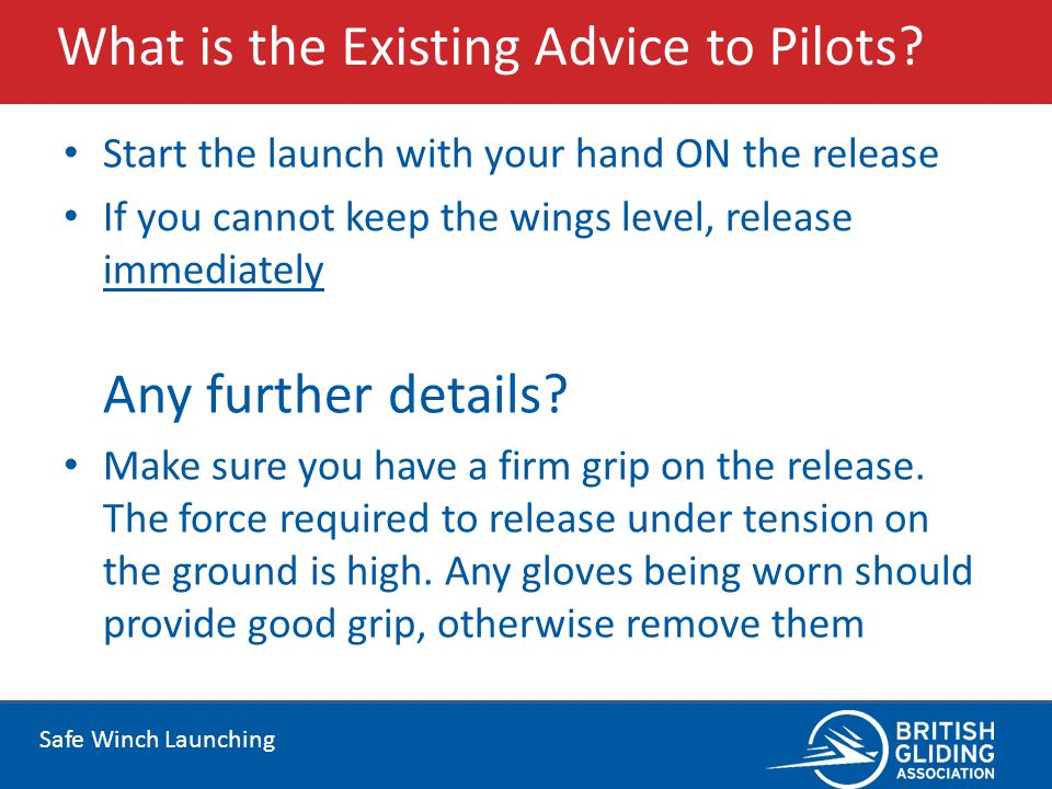 What is the Existing Advice to Pilots