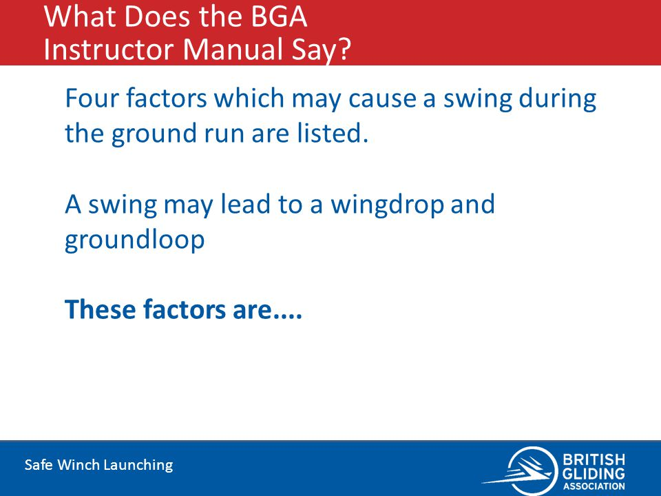 What Does the BGA Instructor Manual Say