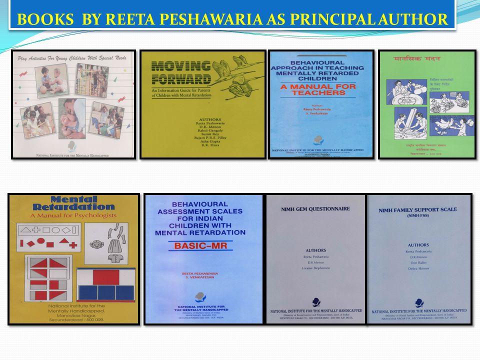 BOOKS BY REETA PESHAWARIA AS PRINCIPAL AUTHOR