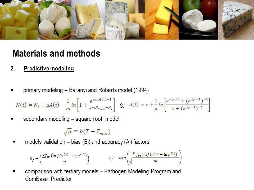 Materials and methods 2. Predictive modeling