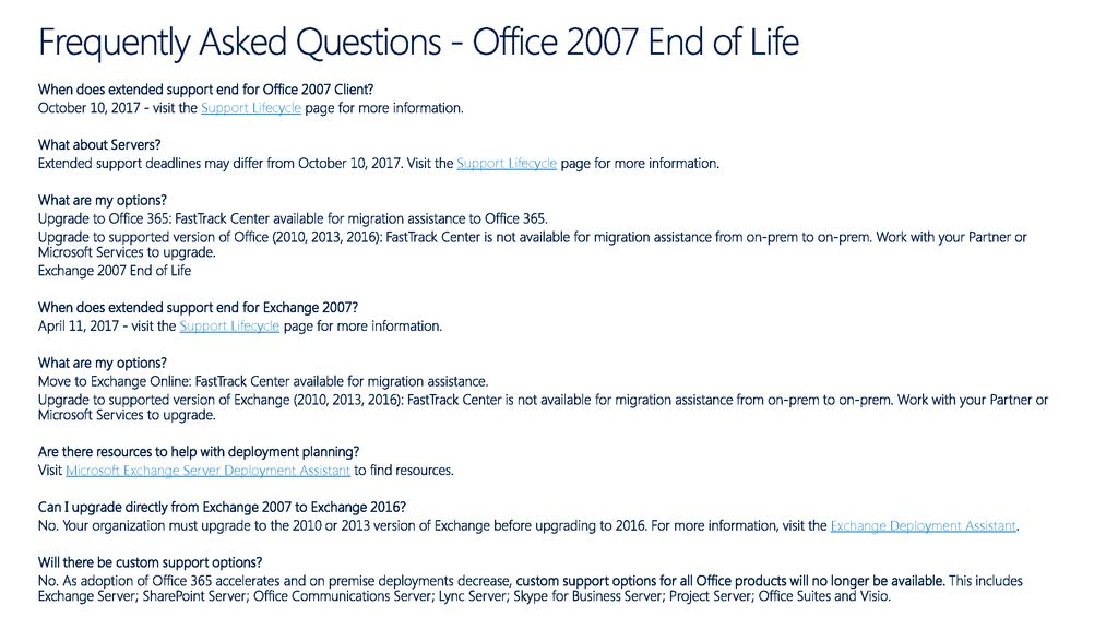 Office 2007 End-of-Life  - ppt download