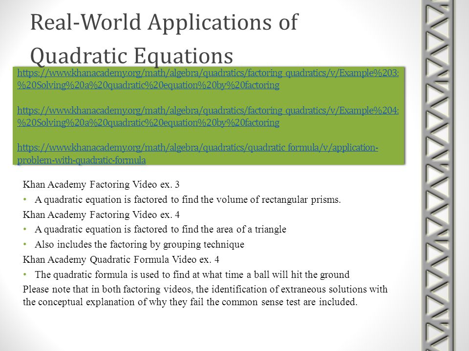 Real-World Applications of Quadratic Equations