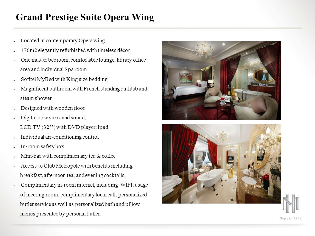 Grand Prestige Suite Opera Wing