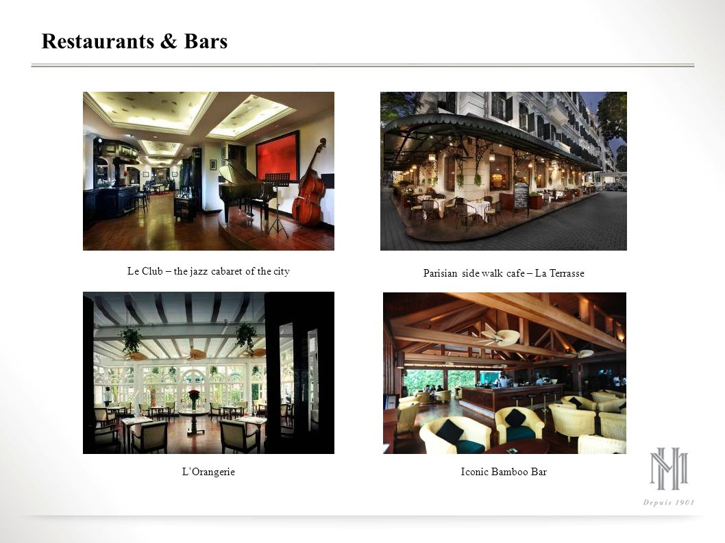 Restaurants & Bars Le Club – the jazz cabaret of the city