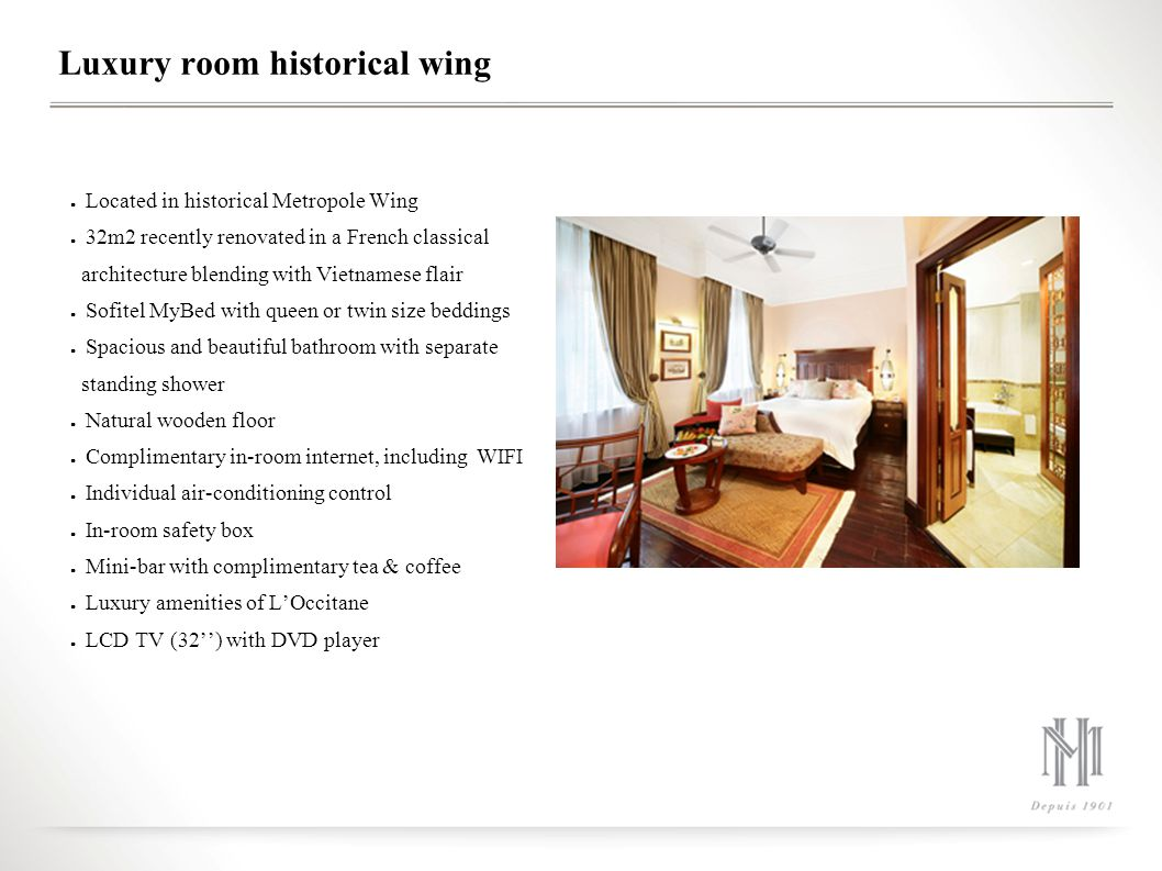 Luxury room historical wing