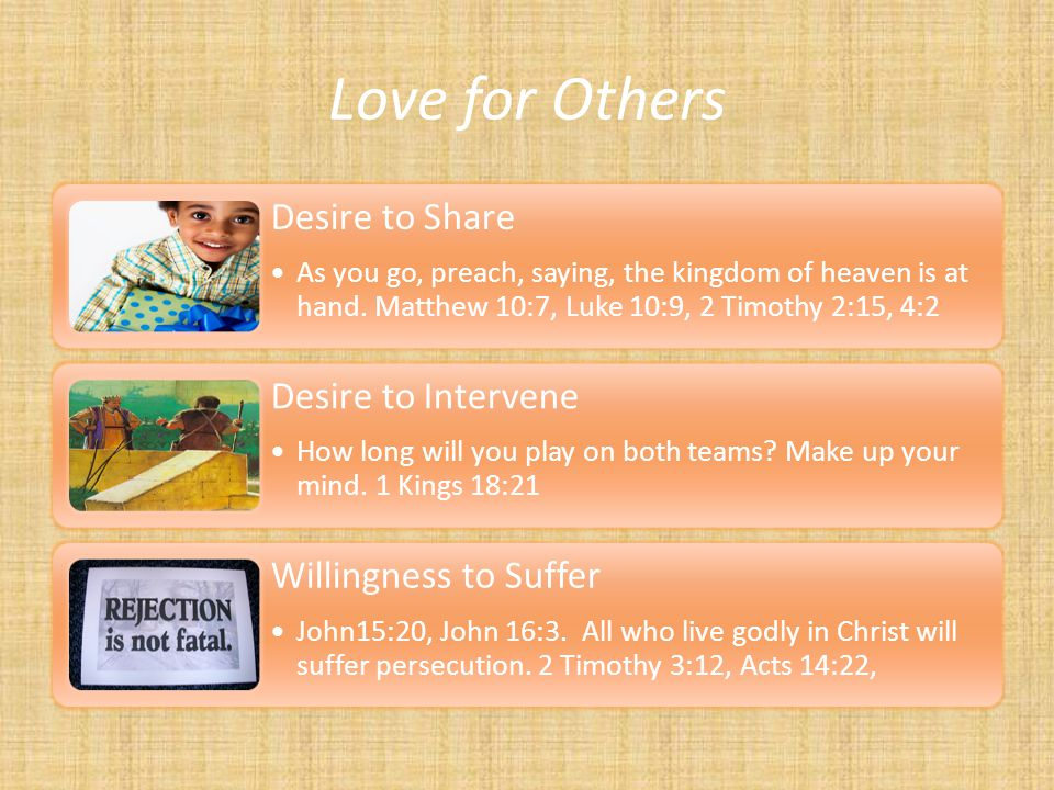 Love for Others Desire to Share Desire to Intervene