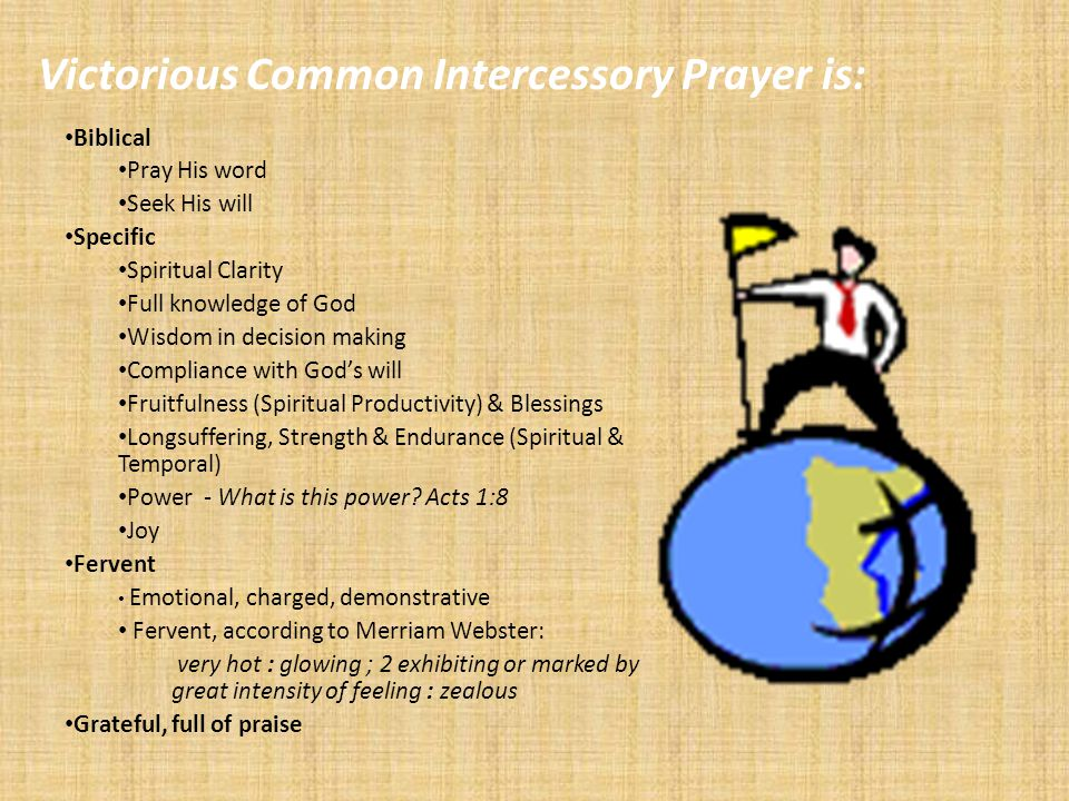 Victorious Common Intercessory Prayer is: