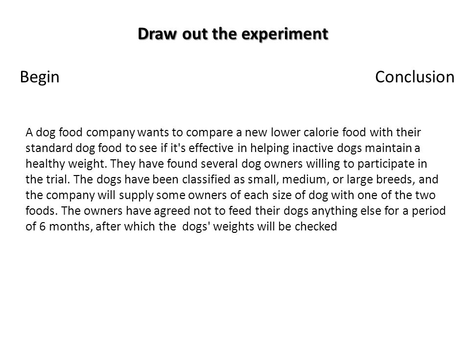 Draw out the experiment