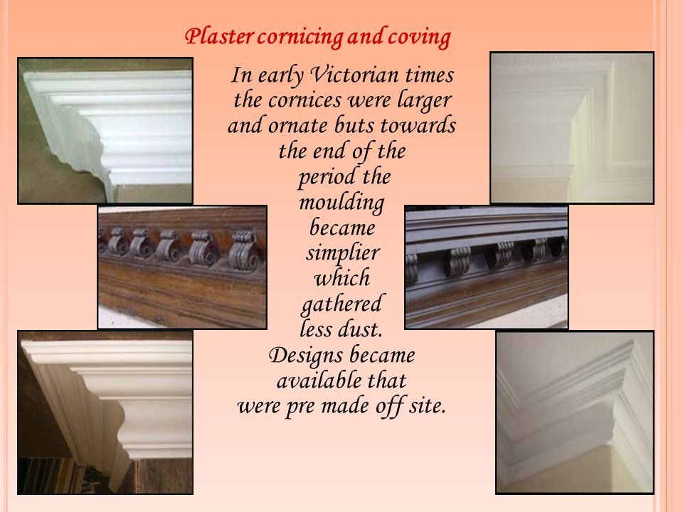 Plaster cornicing and coving