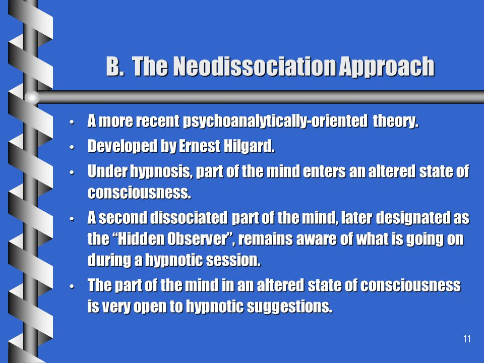 B. The Neodissociation Approach