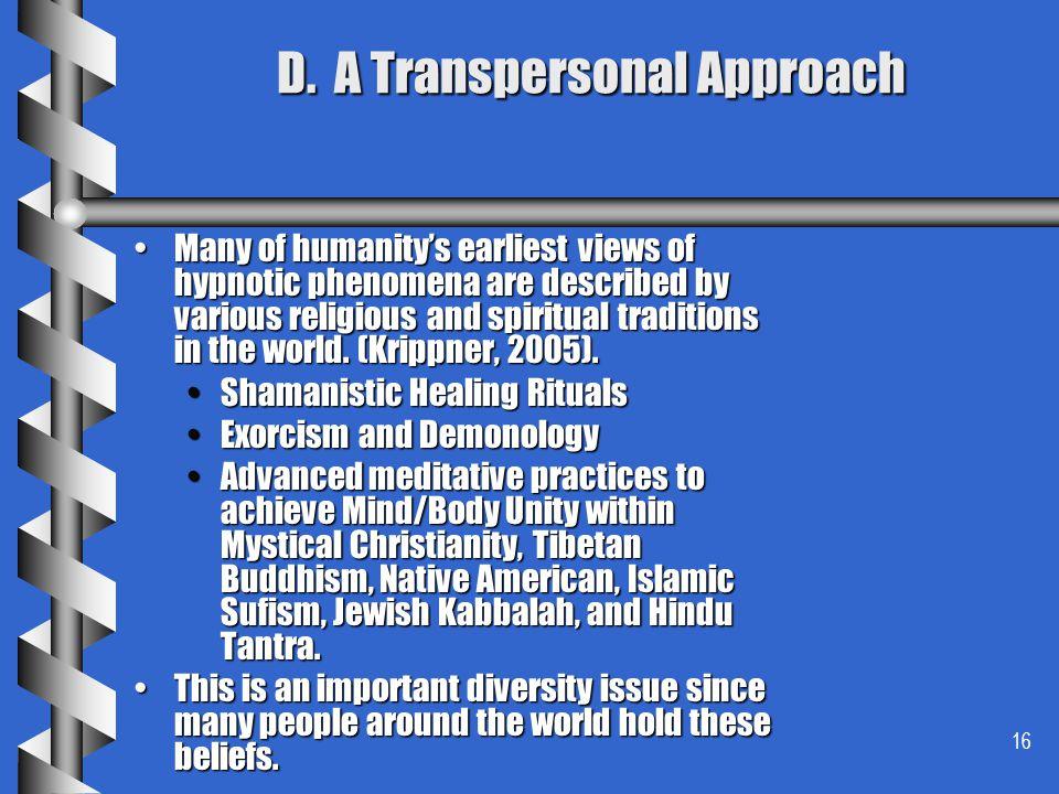 D. A Transpersonal Approach
