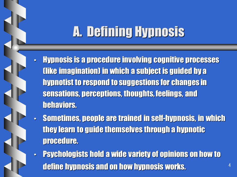 A. Defining Hypnosis
