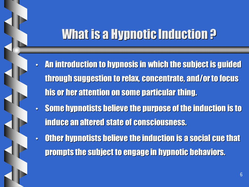 What is a Hypnotic Induction