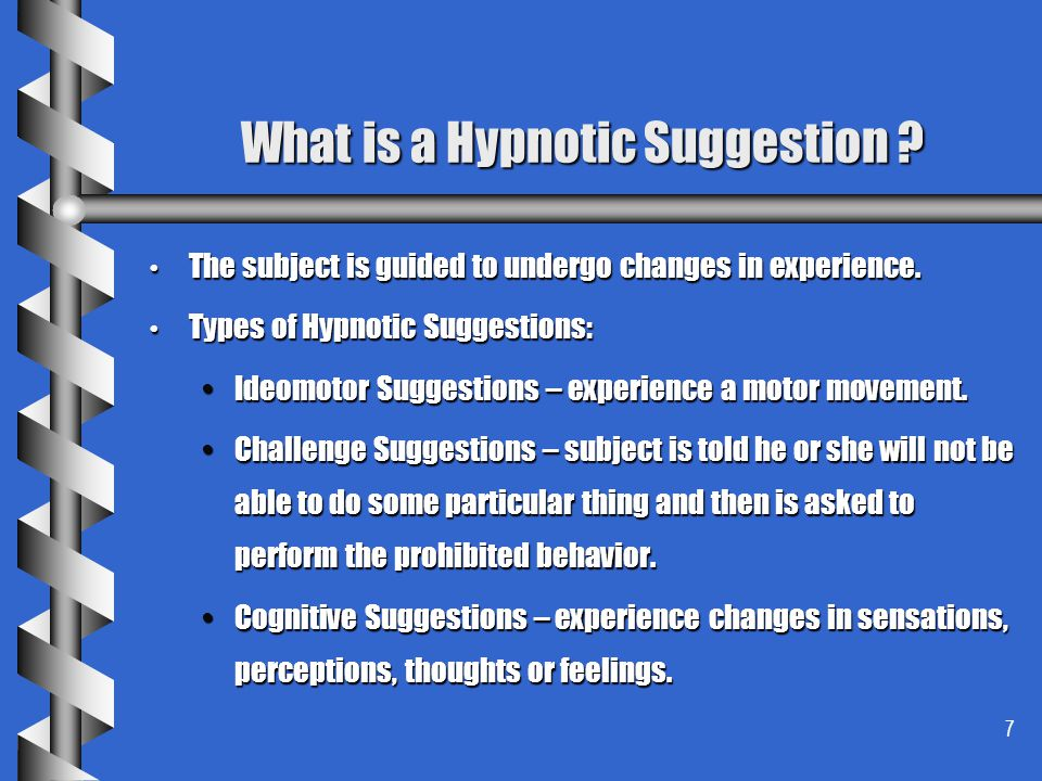 What is a Hypnotic Suggestion