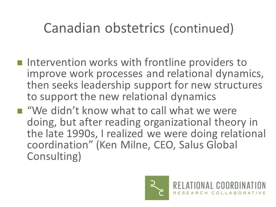 Canadian obstetrics (continued)