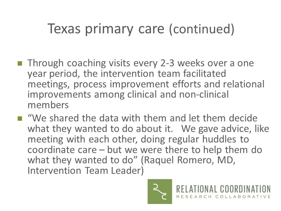 Texas primary care (continued)