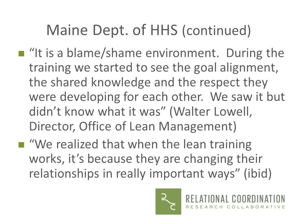 Maine Dept. of HHS (continued)