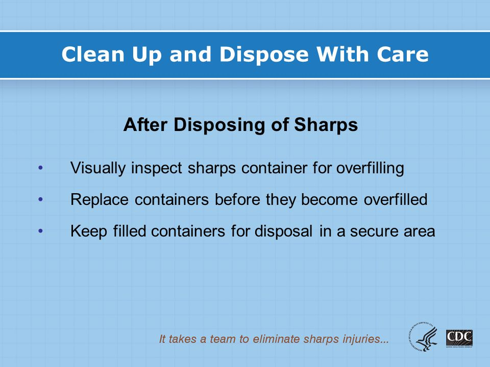 Clean Up and Dispose With Care